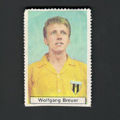 FUSSBALL-SAISON 1967 / 68 396 Wolfgang Breuer (Bayern Hof) Geb. 24. 5. 1944. Stürmer. SICKER – VERLAG GMBH FRANKFURT/M.