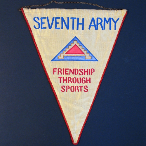 Wimpel Seventh Army - friendship through sports