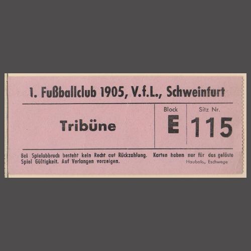 Regionalliga Süd 1967/68: 1. FC Schweinfurt 05 – FC Bayern Hof; Leihgabe von Franz Anders